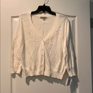 NWT cream cardigan